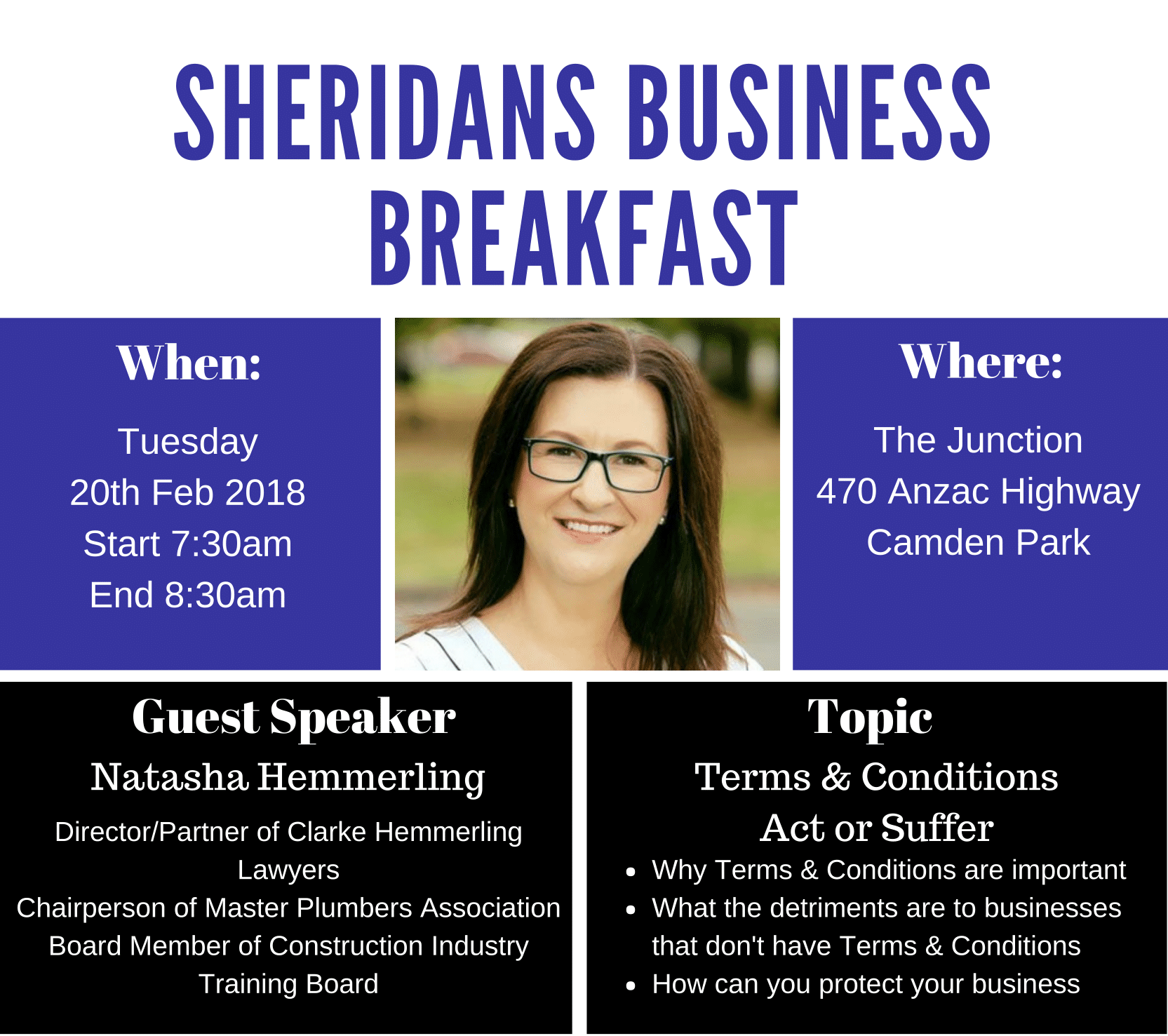 Sheridans Business Breakfast