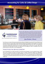 Sheridans - Accounting for Cafes & Coffee Shops